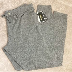 NWT Juicy Couture Black label cashmere joggers Lg